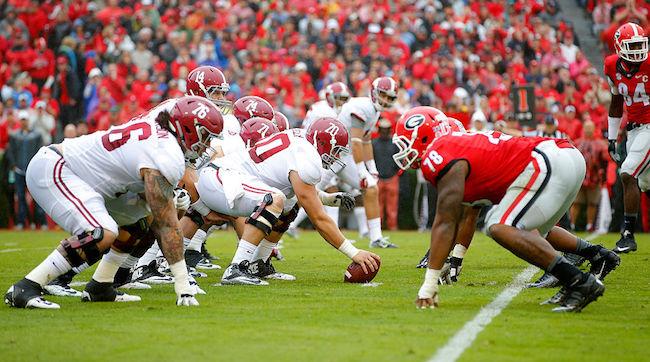 Alabama vs Georgia football