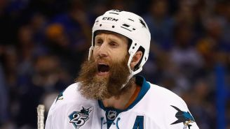 Joe Thornton Got Part Of His Beard Ripped Out During A Fight
