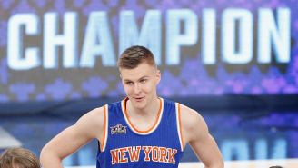 Jen Selter Makes An Appearance At MSG To Root For Kristaps Porzingis, Talks About Potential Relationship With The Knicks Big Man