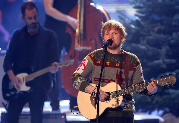 BERLIN, GERMANY - DECEMBER 17:  Ed Sheeran performs during the 'The Voice of Germany' finals at Studio Berlin Adlershof on December 17, 2017 in Berlin, Germany.  (Photo by Adam Berry/Getty Images)
