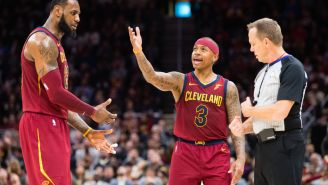 Isaiah Thomas Likes Video Of Kyrie Irving Hitting Shot Over LeBron James During Today's Cavs-Celtics Game