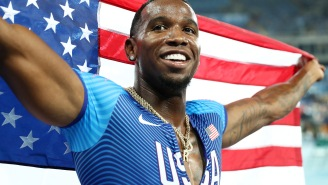 Olympic Gold Medal Sprinter Avoids Suspension By Claiming Failed Drug Test Was Caused By 'Passionately Kissing' His GF