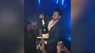 Guy Shatters $40,000+ Bottle Of Champagne Inside Of A Nightclub