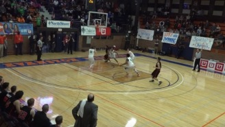 H.S. Freshman Drains 3/4 Court Buzzer Beater To Win The Game, Crowd Goes Nuts