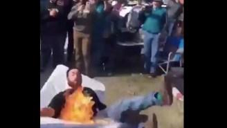 Jacksonville Jaguar Fans Go Full Jason Mendoza By Channeling Their Inner-Bills Mafia