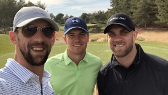 Jordan Spieth, Michael Phelps, and Bryce Harper Hit The Links Together In Vegas
