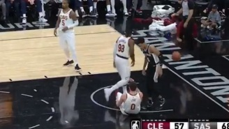None Of Kevin Love's Teammates Tried To Help Him Up After He Got Knocked Down To The Ground During Cavs-Spurs Game