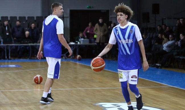 Lithuanian Broadcasters LiAngelo LaMelo Defense