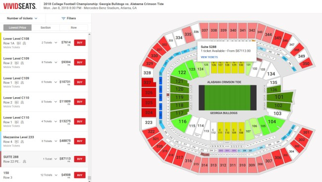 National Championship Title Game Ticket Prices 3