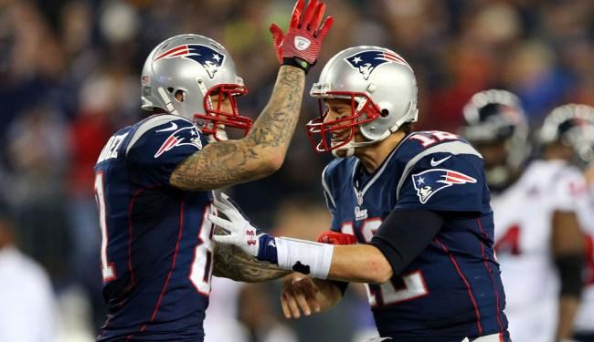NFL Edited Aaron Hernandez Tom Brady