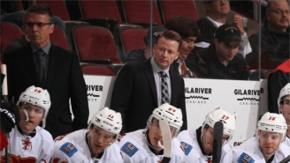 WATCH: NHL Coach Loses His Mind At Practice Before Launching His Stick Into An Arena Suite