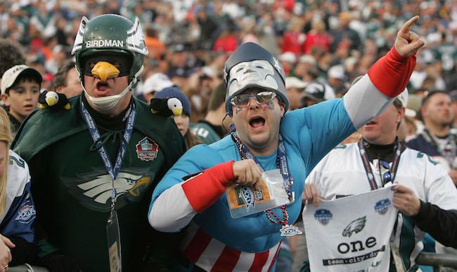 patriots eagles fans