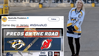 Don't Fly To Nashville For A Preds Game Being Played In New Jersey… Like This Mistaken Fan