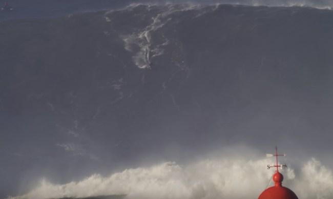 Sebastian Steudtner surfing Nazare Portugal