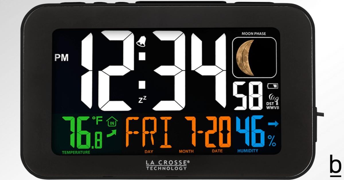 self-setting atomic alarm clock