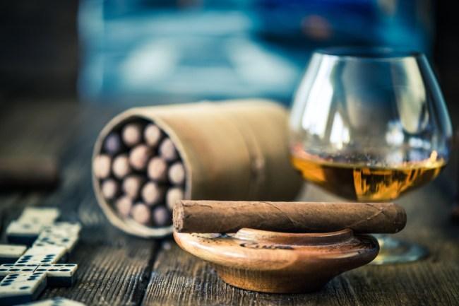 cigars whiskey humidor