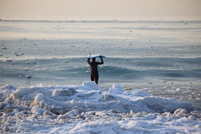 slurpee waves ice surfing winter