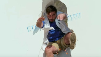 Dudes Use A 'Jerk Vest' And Film Awesome Footage Smashing Through Walls In 4K 1000FPS
