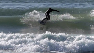Frigid Temps Are Turning Ocean Waves Into 'Rideable Slurpees'