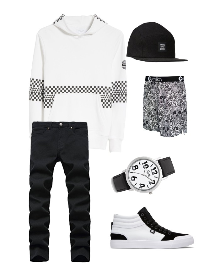 Steal This Look Black & White Large