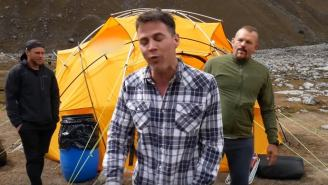 Steve-O Gets Choked Out By UFC Champ Chuck Liddell On A Mountain In Peru