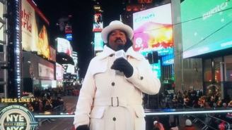 Steve Harvey Got Ruthlessly Roasted For His Super Extra New Year's Eve Outfit