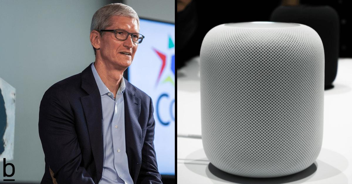 tim cook homepod apple speaker