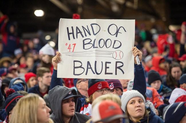 trevor bauer bleeding ALCS 2016