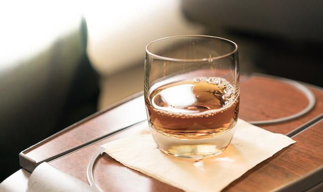 whiskey plane drink tray