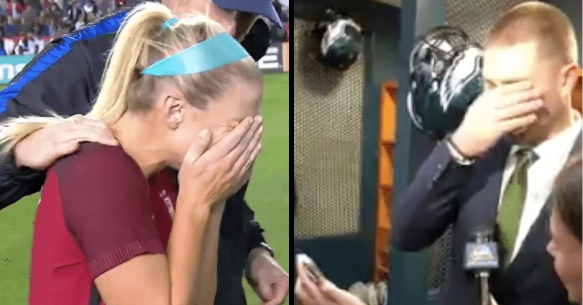 zach ertz emotional wife super bowl