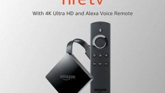 Amazon's 4K Fire TV With Alexa Remote