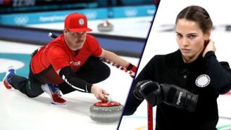 Curling Doppelgangers Who Look Like Angelina Jolie And Andy Reid Have The Internet Seeing Double