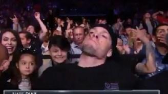 Derrick Lewis And Nate Diaz Got Weird During Tonight's UFC Broadcast