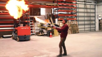 Dude Builds A Replica Of Elon Musk's Flamethrower From Scratch For Under Half The Price