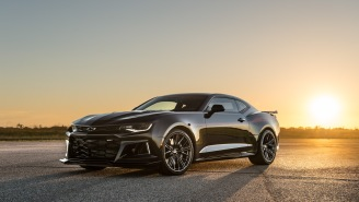 Watch The 1000-HP Hennessey Camaro Exorcist Hit 217 MPH In Top Speed Test