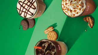Girl Scout Cookies Are Now Drinkable And Contain Caffeine Thanks To Dunkin Donuts