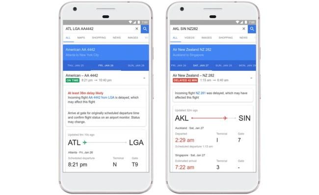 Google Travel delays