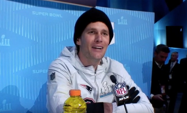 Tom Brady Super Bowl 52 Opening Night