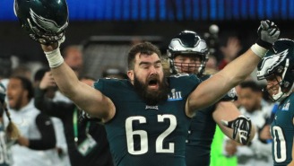 Jason Kelce Had The Best Parade Ever, Slamming Beers, Singing F-Bomb-Laden Chants On Live TV