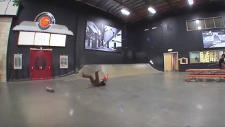 Pro Skater Justin Figueroa Lands A Nollie Kickflip While Going 25 MPH…Wipes Out A LOT Before