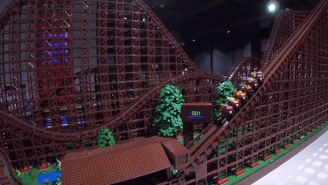 90,000-Piece LEGO Replica Of World's Largest Wooden Roller Coaster Is A DIY Masterpiece