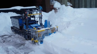 This Working Snow Blower Is Made Entirely Of LEGO And Its Power Is Impressive