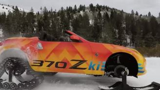 Nissan Turned Their 2018 370Z Concept Roadster Into The 370Zki Snowmobile For Chicago Auto Show
