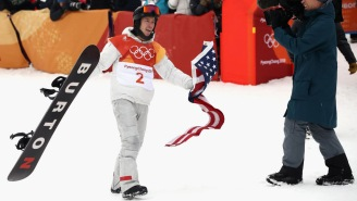 Shaun White Is Getting Dragged For Dragging The Flag After Winning Gold In The Halfpipe