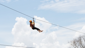 The World's Longest Zip Line Measures 1.7-Miles Long And You Can Reach Speeds Up To 90MPH