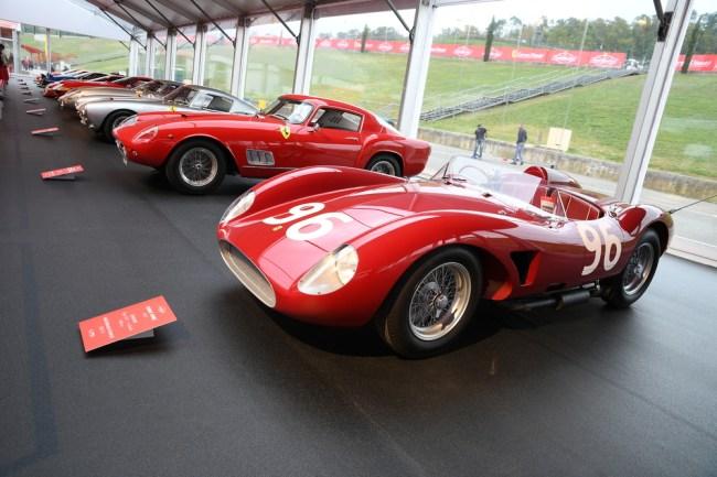 vintage Ferrari race car