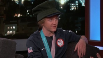 Red Gerard, Youngest Olympic Snowboarding Champ, Talks With Jimmy Kimmel About Shotgunning Beers