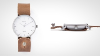 The Timex Horween Leather Fairfield Watch Is Built For The Stylish Modern Gentleman (10% Off)