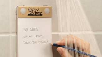 Write Down Your Shower Thoughts With This Waterproof Notepad