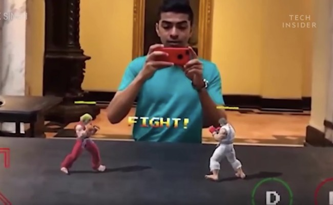 augmented reality street fighter